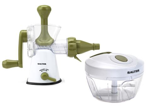 Etrue Cranked Healthy Juicer Green Jj5c salter mini chopper and manual crank juicer prep set