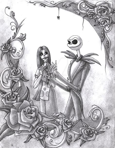 jack and sally by zindafar on deviantart