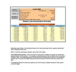 Amortization Table Calculator by Sle Loan Amortization Calculator 8 Free Documents In Pdf