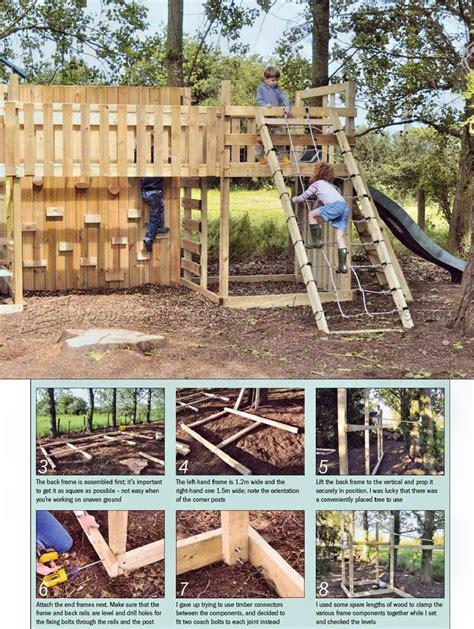 kids climbing frame plans woodarchivist