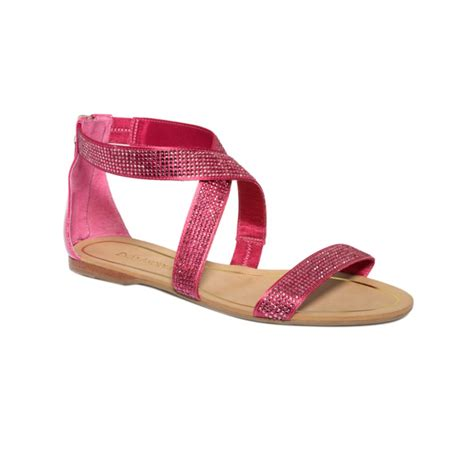 fuschia sandals enzo angiolini persuit flat sandals in pink fuschia lyst