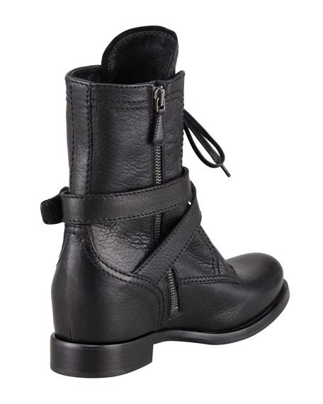 Prad Org Address Search Prada Lace Up Leather Combat Boot Black