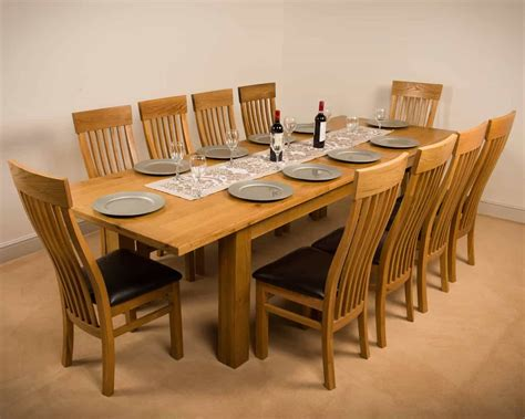 msl solid wood chunky oak extra large extending dining