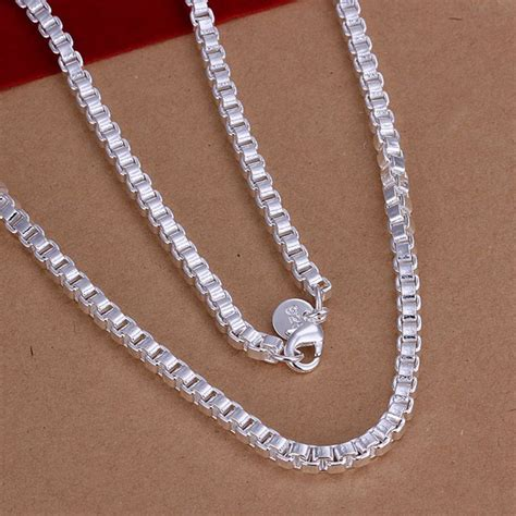 Handmade Silver Chain - new style 925 sterling silver necklaces handmade 4mm