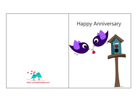 Printable Anniversary Cards Him | free printable anniversary cards