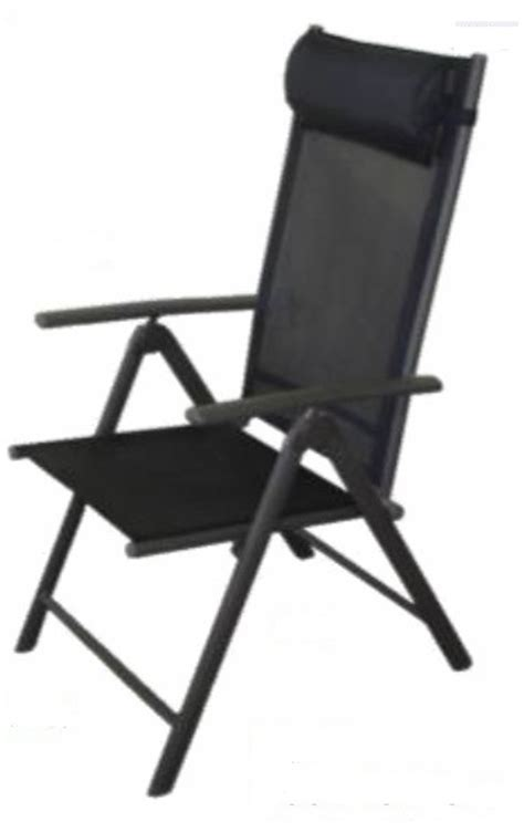 Recliner Chairs Garden by Black Valencia Textilene Garden Recliner Chairs With