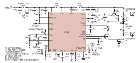 low emi inductor solutions low emi led driver features 2a 40v integrated synchronous switches for automotive