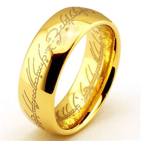 11 6mm tungsten carbide rings 18k gold plated the lord