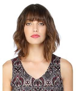 lob hair with side fringe lob with bangs long bob with bangs hair pinterest