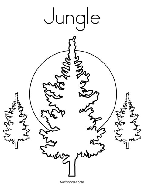 jungle tree coloring page jungle coloring page twisty noodle