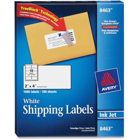 avery templates for shipping labels avery 8463 white inkjet shipping labels permanent adhesive