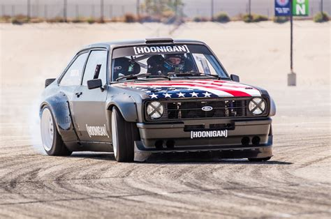 Ken Block Mk2 by Ken Block Introduces Gymkhana Ford Mk2 By Doing Donuts