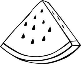 watermelon melon outline clip art at clker com vector