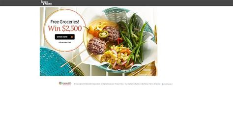 Iga Sweepstakes - bhg 2 500 grocery sweepstakes win free groceries