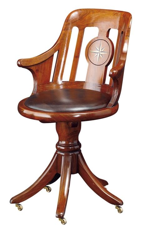 Desk Chair Rosewood Finish Normandie