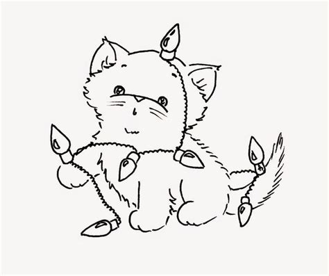 coloring page christmas cat 119 best coloring christmas images on pinterest color