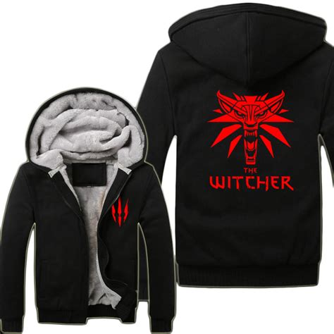 Hoodie The Witcher 3 New Logo 2015 the witcher 3 hunt wolf hoodies