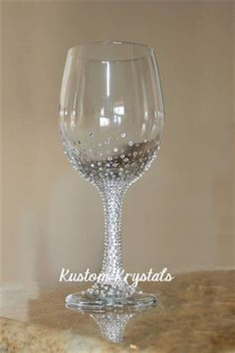 party glasses swarovski crystal custom swarovski crystal bride wine glass bride glass