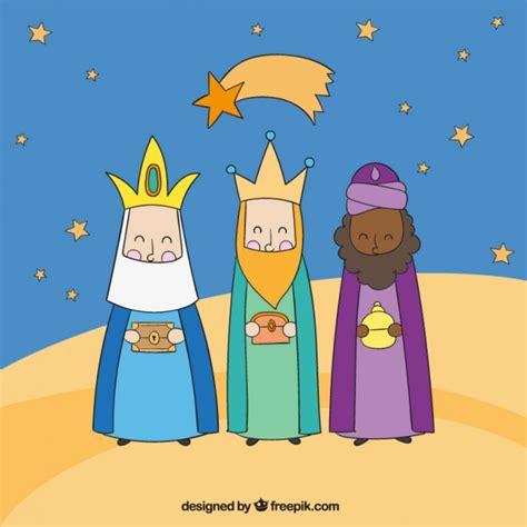 imagenes reyes magos gratis tres reyes magos por la noche descargar vectores gratis