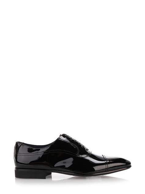 salvatore ferragamo black patent leather oxford shoes black