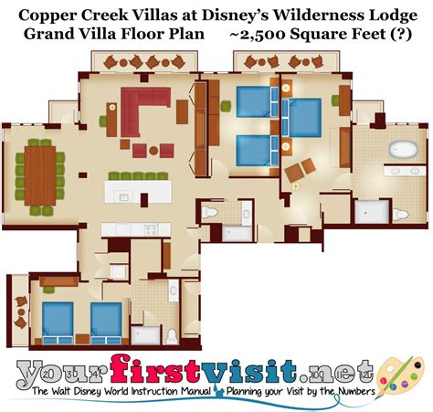 villas at wilderness lodge floor plan copper creek villas at disney s wilderness lodge yourfirstvisit net