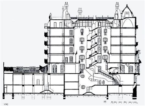 casa batllo floor plan casa mila section drawing pinterest gaudi and arch