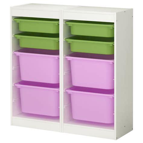 ikea playroom storage trofast storage combination white multicolour 92x30x94 cm