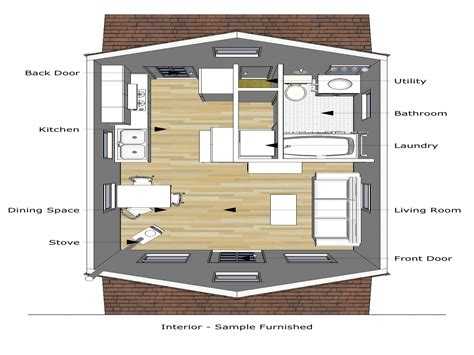 home design 6 x 20 tiny cottage house plans tiny house floor plans 20 x 16