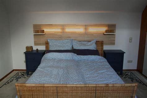 bettenkopfteile ikea mandal und ledberg dezentes licht im schlafzimmer