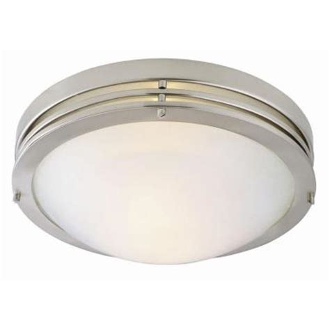 Home Depot Kitchen Ceiling Lights Design House 2 Light Satin Nickel Ceiling Light With Alabaster Glass