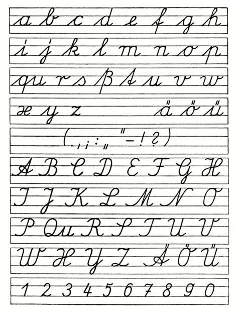pattern writing wiki ausgangsschrift der ddr 1958 schulausgangsschrift