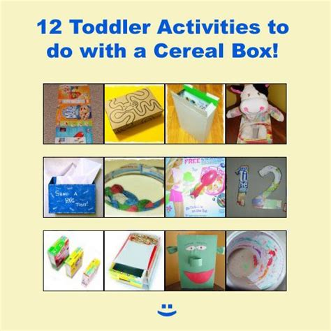 cereal box crafts for 12 toddlers activities to do with a cereal box