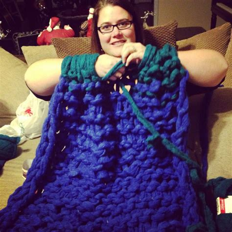 arm knit a blanket arm knitted a blanket used simply maggie s tutorial on