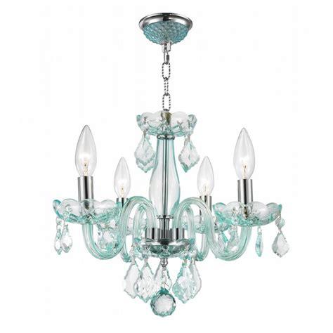 blue chandelier light w83100c16 cb clarion 4 light chrome finish coral blue