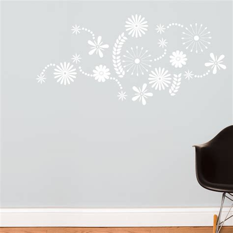 white flower wall stickers flower power in white wall decal rosenberryrooms