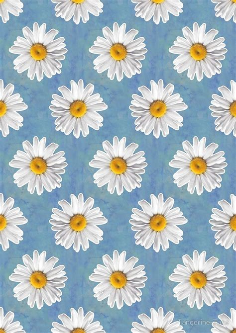 daisy pattern tumblr quot daisy blues daisy pattern on cornflower blue quot by