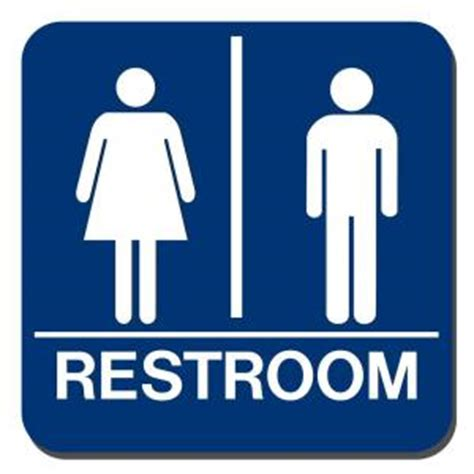bathroom signs for the home lynch sign 8 in x 8 in blue plastic with braille