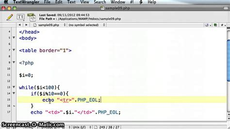php table template php create html table with a while loop tutorial 09 3