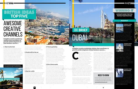 magazine layout envato magazine template indesign 40 page layout v6 by