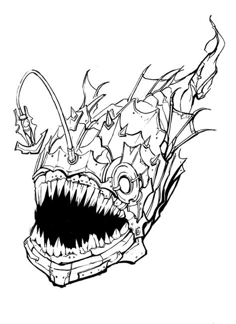 amazing angler fish coloring pages get coloring pages
