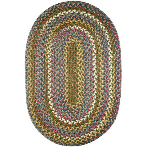rhody rugs rhody rug bouquet emerald 2 ft x 4 ft oval indoor outdoor braided area rug bq25r024x048 the