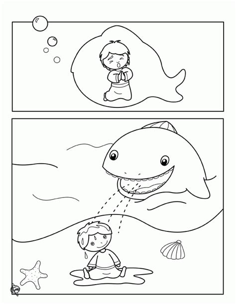 coloring pages of big fish jonah and the big fish coloring page coloring home
