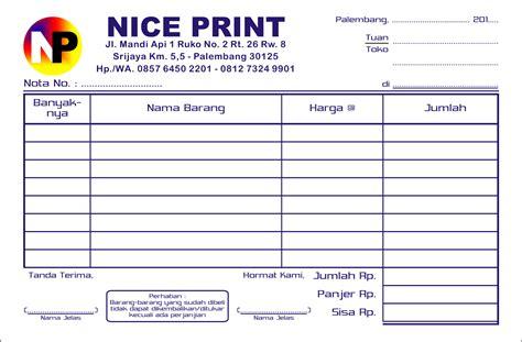 Printer Nota Kecil buat nota faktur dan kwitansi di palembang percetakan print
