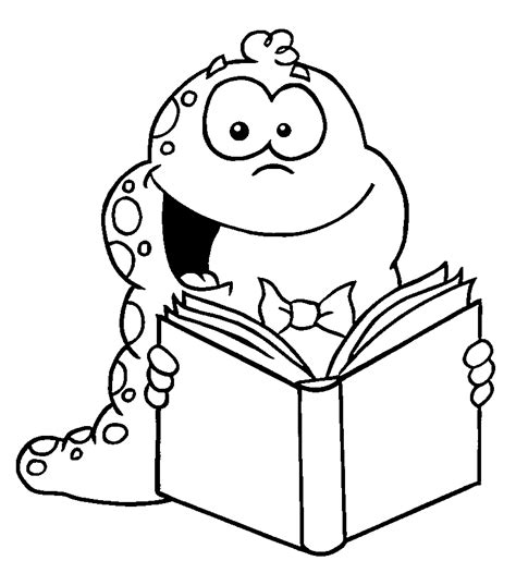 coloring pages book worm bookworm pictures cliparts co
