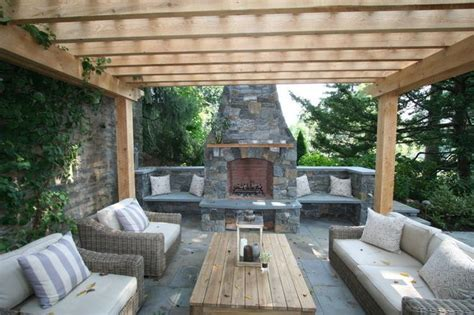 Patio Ideas Pergola Patio With Fireplace And Pergola Architectural Design