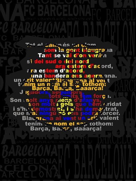 barcelona anthem lyrics 60 best fc barcelona images on pinterest futbol
