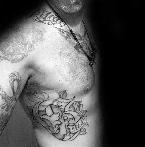 mens rib cage tattoos 100 memorial tattoos for timeless tribute design ideas