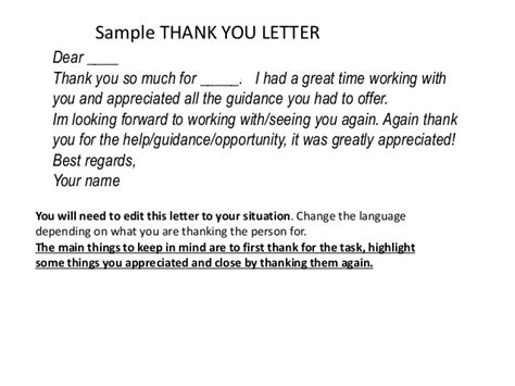 thank you letter to after leaving a sle thank you letter to before leaving company 28 images