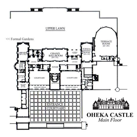 Oheka Castle Floor Plan | oheka castle ground plan the great gatsby