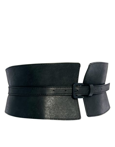 The Belts by Asos Wide Waist Cincher Buckle Belt In Black Lyst